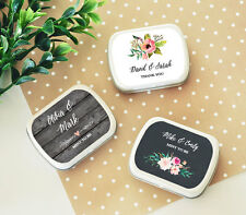24 Rustic Floral Garden Personalized Mint Tins Favor Candy Boxes Q47125