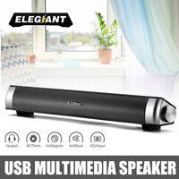 ELEGIANT USB TV Soundbar Subwoofer Stereo-Lautsprecher für Computer-Desktop-Lapt