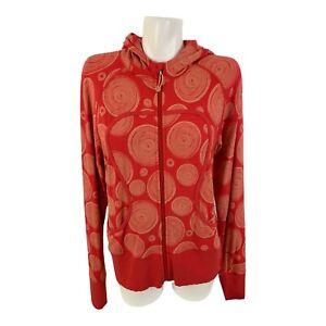 Lululemon Remix Lux Beechlu Circles Orange Zip Hoodie Jacket Sweater Size 12