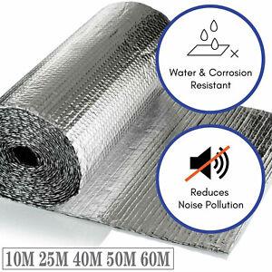 Double Aluminium Bubble Foil Insulation Loft Caravan Wall Shed Thermal 10 20 30M