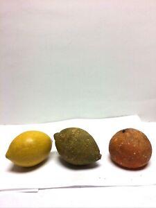 Vintage Italian Stone Fruit 2 Lemons 1 Tangerine