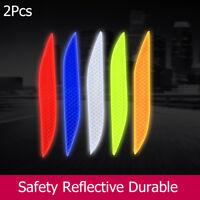 Decal Safety Car Reflective Strip Warning Stickers Reflector  Wheel Bumper