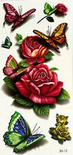 3D Einmal-Tattoo Temporary Body Art Wasserdicht 3D-12 Neu