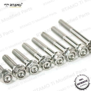 RTAMO | M6 M8 M10 Various Length Gr5 Titanium Hex Flange Spec Race Drilled Bolt