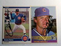 1984 Dickie Noles Auto Lot Autograph Donruss Fleer Card Cubs Phillies Signed