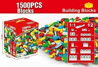 1500 Piece Building Bricks Blocks Creative Toys Compatible Play Game For Kid Fun