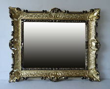Wall Mirror Gold Black Baroque Repro Bathroom Vanity 56x46 1