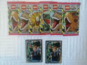 Lego Jurassic World 6 Booster + 2 lim. Karten