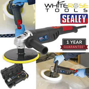 Sealey Car Polisher Digital Buffing Machine Valet 180mm 1100W 230V Lightweight