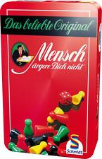 """ORIGINAL """" Mensch ärgere Dich nicht """" Schmidt-Spiele MäDn Metalldose Reisespiel"""