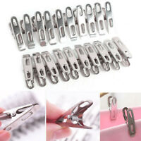20-60Pcs Stainless Steel Clothes Clamps Hanging Pins Clips Laundry Windproof Peg