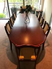Solid Timber Dining Setting - 6 - 10 Seater (Extendable - 2 leaf extenders)