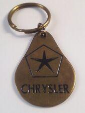 Vintage 1970s - CHRYSLER - Metal Key Chain / Ring / Fob - VG+