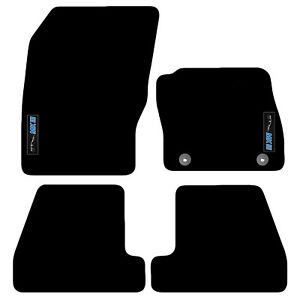 Ford Focus MKIII 2011 - 2014 Tailored Carpet Car Floor Mats with logo 2 Clips