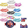 """16""""inch HAPPY BIRTHDAY BUNTING BANNER DECORATIONS BALLOONS FOIL numbers letters"""