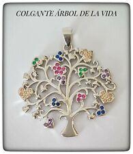 ARBOL DE LA VIDA PLATA DE LEY 925 ml ,TREE OF LIFE SILVER,COLGANTE ÁRBOL AMULETO