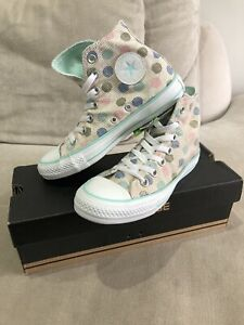 New Womens All Star Converse Rare Low Top Shoes 5.5 US Sneakers Polka Dot [374]