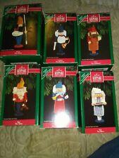 Hallmark North Pole Nutcrackers Keepsake 1992 Ornaments Lot of all 6 Mib