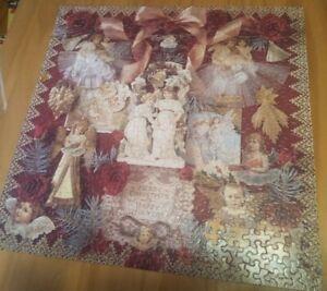 """Victorian Angels"" Tin Box Springbok 500pc puzzle used 1994 CHRISTMAS"