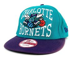 CHARLOTTE HORNETS NBA NEW ERA 9FIFTY SNAPBACK CAP, HAT - NBA HARDWOOD CLASSICS