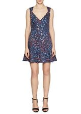 NWT FRENCH CONNECTION BLUE FLORAL COTTON FLARE DRESS SIZE 12 $128