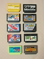 Taito,Konami,Hudson ASCII lot 10 games. Famicom NES Nintendo game From Japan