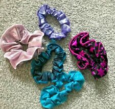 5 NEW GYMNASTIC HAIR SCRUNCHIES ASSORTED COLOUR