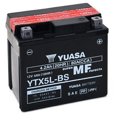 Batteria ORIGINALE Yuasa YTX5L-BS YTX5LBS Peugeot Looxer 100 2001 in poi