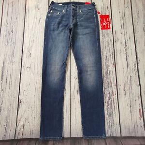 Men's True Religion Jeans 29 Waist 34 Leg Geno Relaxed Slim Fit Stretch £199