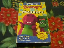 ~BARNEY & FRIENDS COLLECTION BARNEY'S BEST MANNERS~KIDS EDUCATIONAL VHS~TESTED~