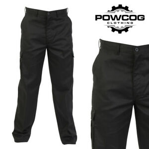 """QUALITY MENS CARGO COMBAT WORK TROUSERS  BLACK or NAVY  Fits Waist 28"""" - 52"""""""