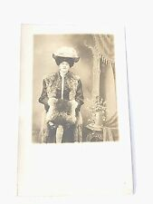 Vintage Lady In Coat and Hat Postcard  #1