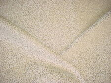2+Y WEAVE TEXTILES BEAUTIFUL MINK / WHITE SQUIGGLE CHENILLE UPHOLSTERY FABRIC
