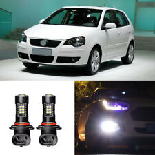 2x Canbus H3 3030 21SMD LED DRL Daytime Running Fog Lights Bulbs For VW Polo 04+