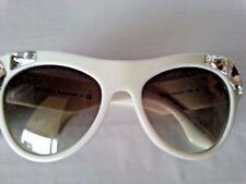 New Prada Sunglasses SPR 22Q 7S3-0A7 White Silver Crystal