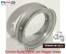 """0014 - Cerchio Ruota 3,50x8"""" Aperto - 4 Fori """"RMS"""" per Piaggio Vespa 125 Super"""