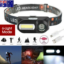 LED Head Torch Headlight CE Camping Headlamp USB Rechargeable Waterproof