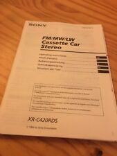 Sony XR-C420RDS autoradio notice utilisation mode d' emploi éd. 94