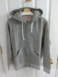 The Real McCoy's grey hooded zip sweatshirt