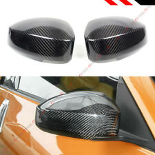 FOR 2003-2007 NISSAN 350Z Z33 REAL CARBON FIBER SIDE MIRROR COVERS CAP OVERLAY