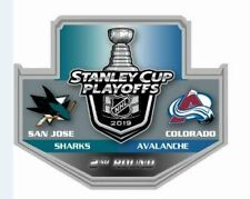 2019 NHL PLAYOFFS PIN 2ND ROUND SAN JOSE SHARKS COLORADO AVALANCHE PUCK STYLE