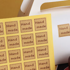 40pcs Handmade Sticker Kraft Label Hand Made Gift Cake Baking Sealing Sticker *