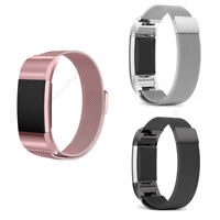 For Fitbit Charge 2 Replacement Magnetic Clasp Strap Stainless Steel Wrist Band