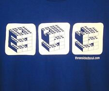 THREE SIDED SOUL indie rock XL tee Westerville T shirt Ohio blues Nick Collura