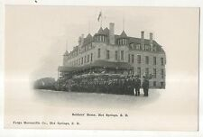 Soldiers Home, HOT SPRINGS SD Vintage South Dakota Postcard