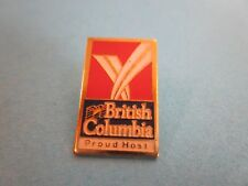Metal & Enamel Pin Badge. British Columbia Proud Host.  Good Condition
