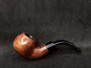 Irish Estate Peterson Kildare  (03S) Smooth Bent Apple P Lip Pipe 9mm