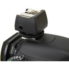JJC hot shoe flash adattatore con PC Sync e 3.5 mm Mini Jack Port Socket OUTLET