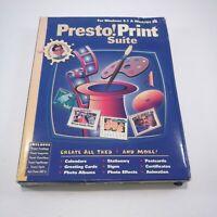 Print Suite Presto! Big Box PC Windows 3.1 & 95 Software Ver. 1.0