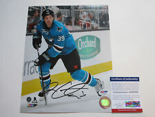 LOGAN COUTURE SIGNED 8X10 PHOTO PSA/DNA COA AC55345 SAN JOSE SHARKS